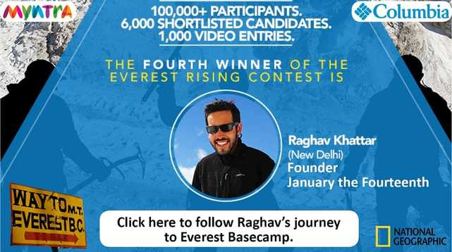 PictureRaghav Khattar was shortlisted for a trek to Everest Basecamp with Columbia Sportswear and National Geographic to be part of the Everest Rising series.